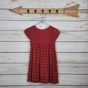 Pink Chicken | Short Sleeve Zigzag Print Dress